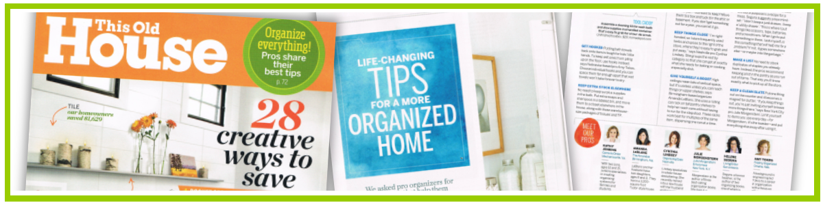 Tips for a More Organized Home… from the Pros