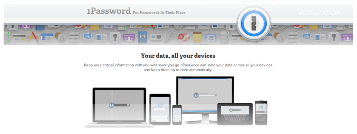No More Sticky Notes:  1Password App
