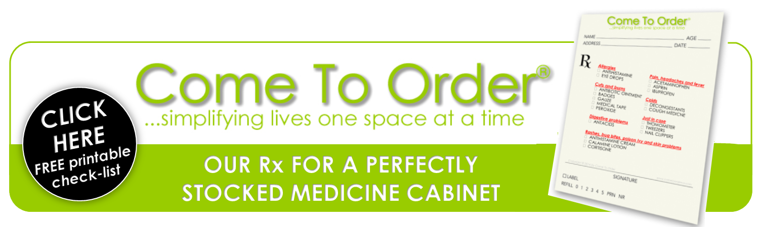 Checklist for an Organized Medicine Cabinet