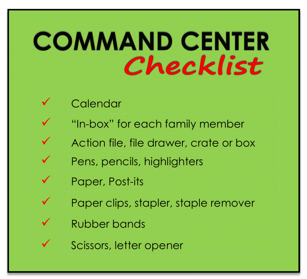 Organize Your Home Command Center