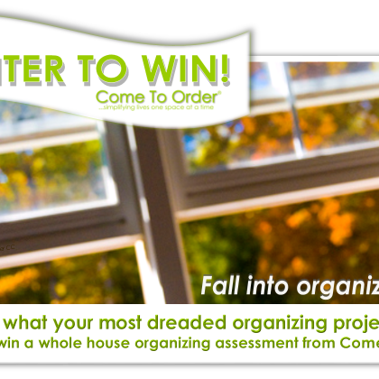 Fall into Organization:   A Come To Order Contest