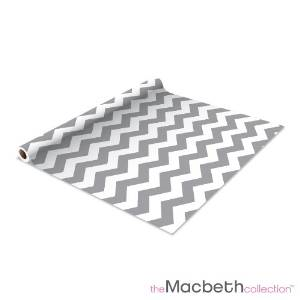 Self Adhesive Shelf Liner - 2 Pack - Rugby Chevron Graphite