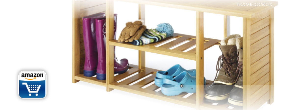 Organize your Mudroom with this Storage Bench