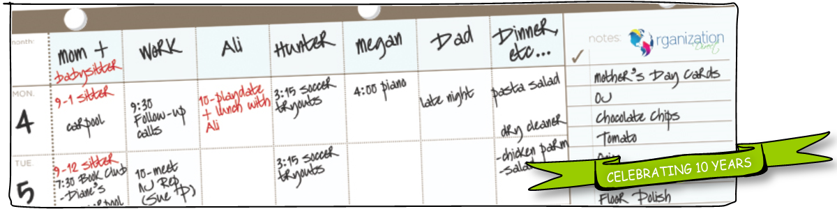 Using a Simple Schedule Management Plan to Stay Organized