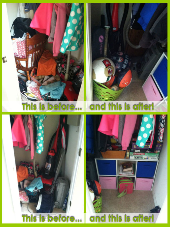 Before and After:  The Entry Closet